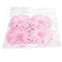 Головки цветов из ткани хризантемы розовые