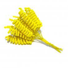 Спиральки желтые декоративные