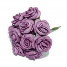 Розы пенка фиолетовые