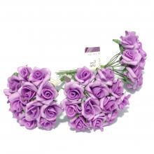 Фиолетовые латексные розочки мини