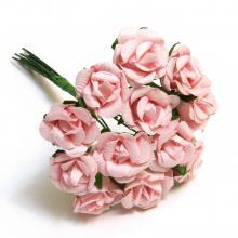 Розовые розочки миниатюрные