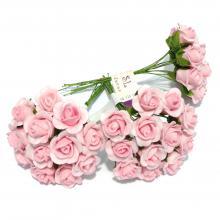 Розочки маленькие розовые для заколок