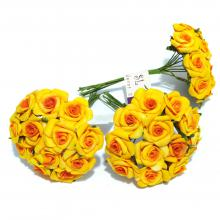 Желтые маленькие розочки из латекса