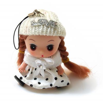 Куколка мини для декора в белом плаще