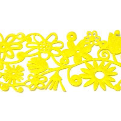 Лента из фетра с цветочками и колокольчиками