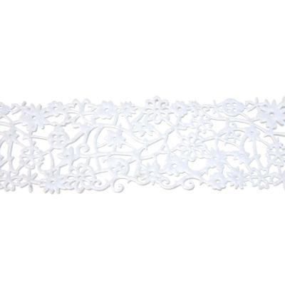 Лента белого цвета из фетра