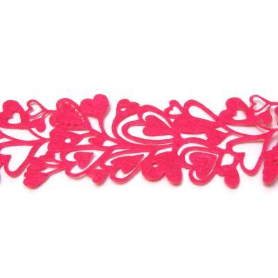 Розовая лента из фетра