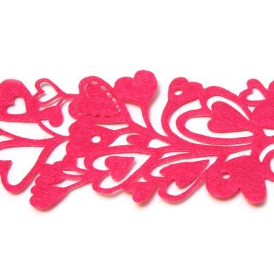 Лента из фетра с сердечками