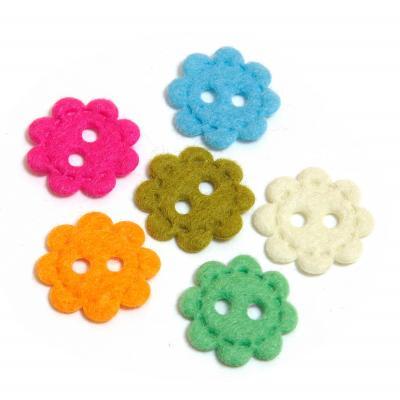 Пуговицы для скрапбукинга цветочки разноцветные