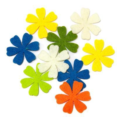 Готовые цветы из фетра