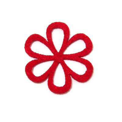 Фигурные цветочки из цветного фетра