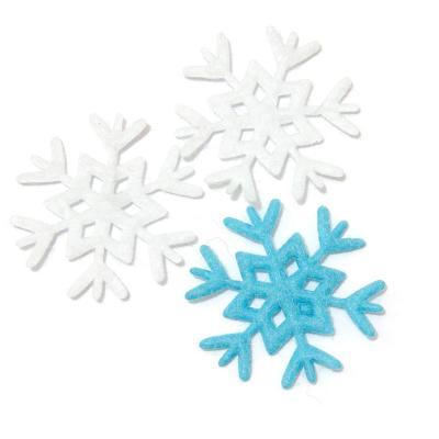 Снежинки из фетра красивые