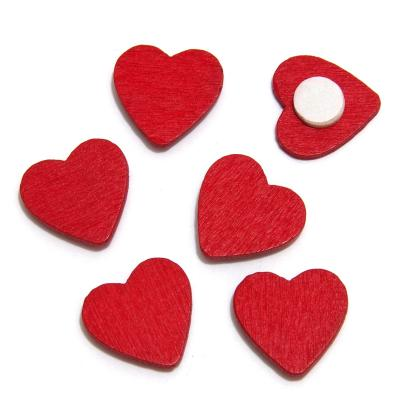 Сердечки на липучке деревянные