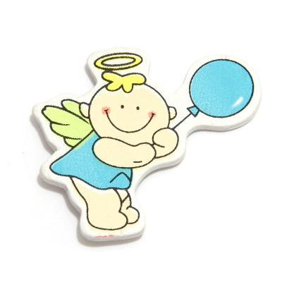 Липучка ангелочек с голубым шариком
