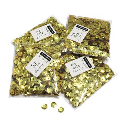 Пайетки перламутровые золото