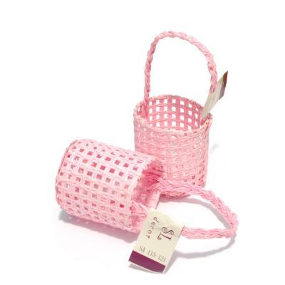 Корзинка маленькая розовая