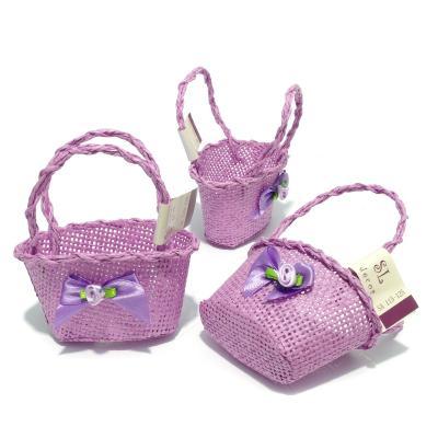 Корзинка фиолетовая для декора