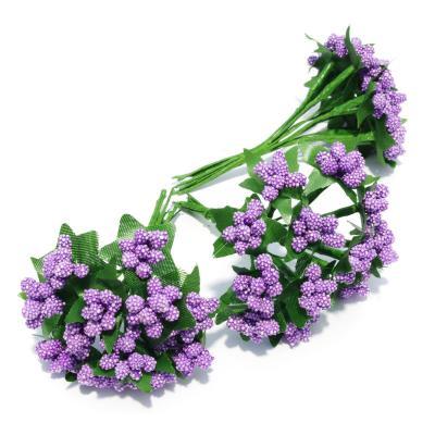 Веточки миниатюрные с фиолетовыми ягодками