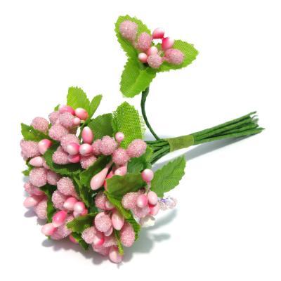 Веточки розовые с ягодками недорого