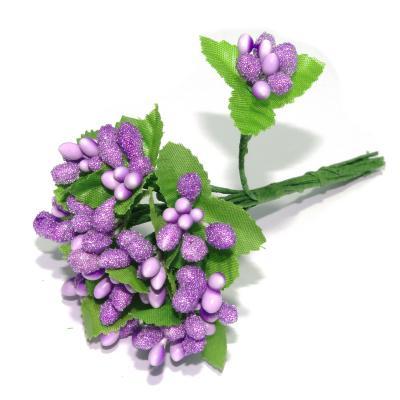 Фиолетовые ягодки декоративные миниатюрные