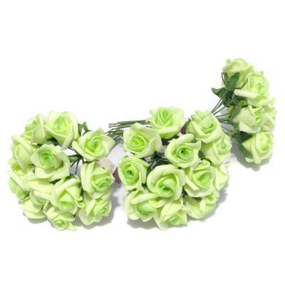 Розочки маленькие зеленые для заколок