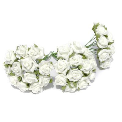Белые розочки латекс