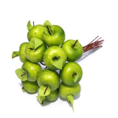 Яблочки искусственные мини зеленые