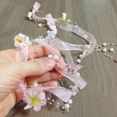 Лента розовая для свадебного декора
